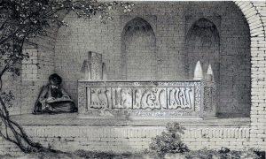 Tomb_of_Sheikh_Saadi_by_Eugène_Flandin